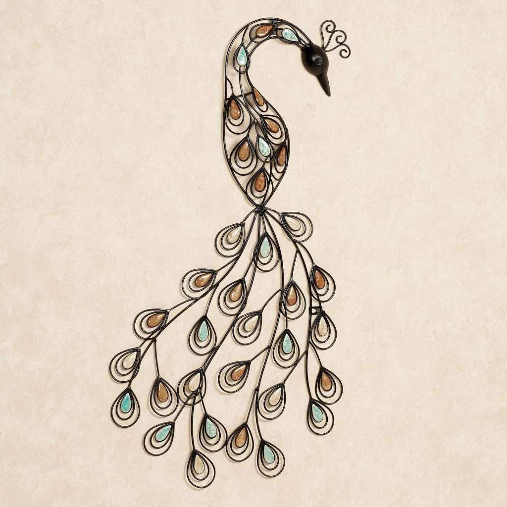 Metal Wall Decor Luxury Resting Peacock Metal Wall Art