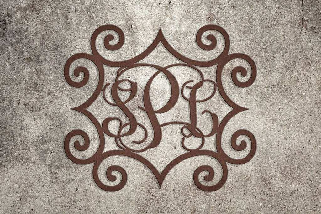 Monogrammed Wall Decor New Wrought Iron Inspired Metal Wall Art with ...