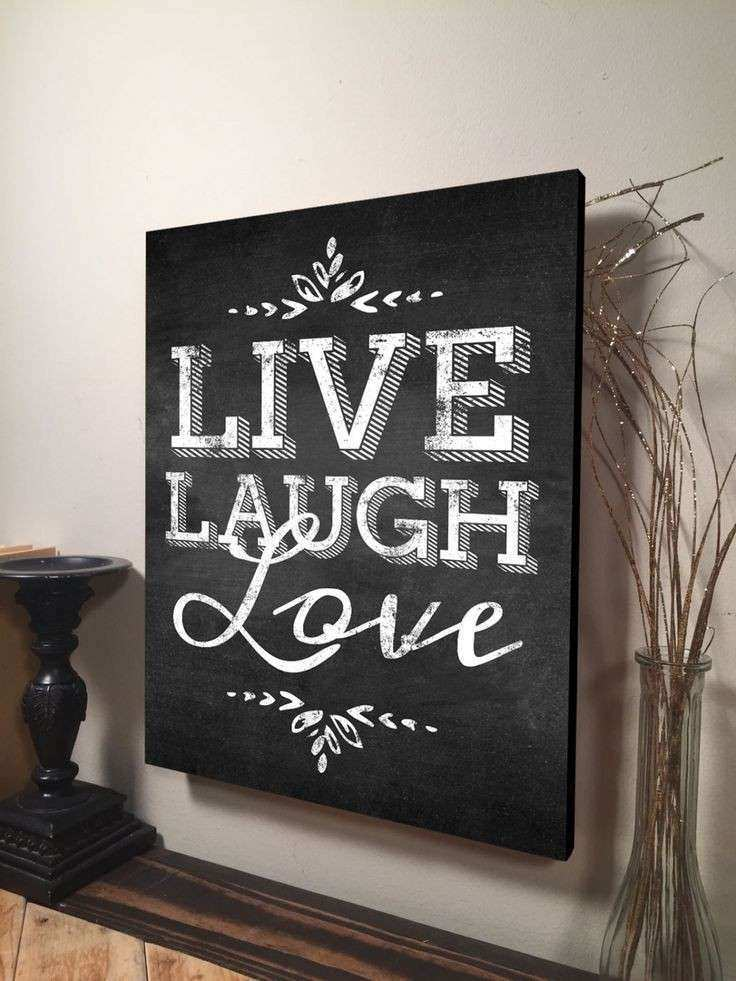 Live Laugh Love Wall Art Inspirational Quote Home Decor