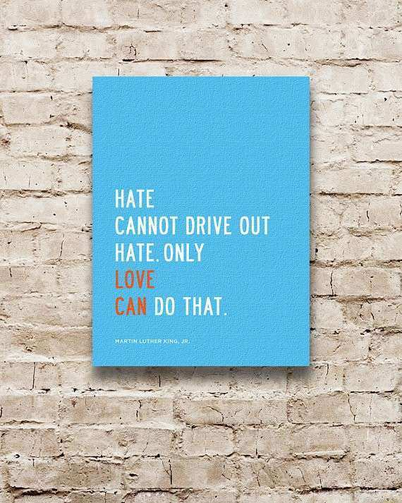 LOVE CAN Inspirational Quote Canvas Wall Art by TransitDesign