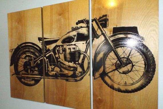 Charming Motorcycle Wall Art Lovely Vintage Ariel Square Four 1949 Motorcycle Screen  Print