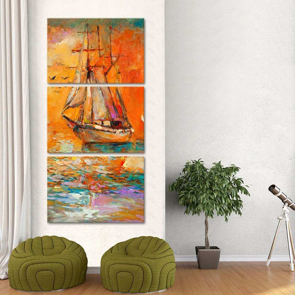 Multi Canvas Wall Art Luxury atlantic Crossing Multi Panel Canvas Wall Art