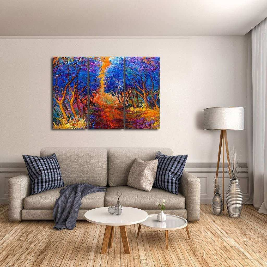 Blue Forest Multi Panel Canvas Wall Art
