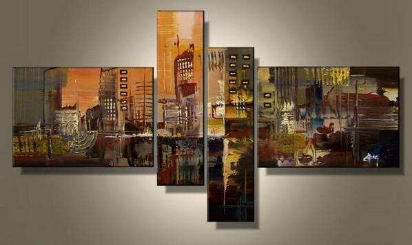 Wall Art Designs Multi Panel Wall Art Hand Painted 4