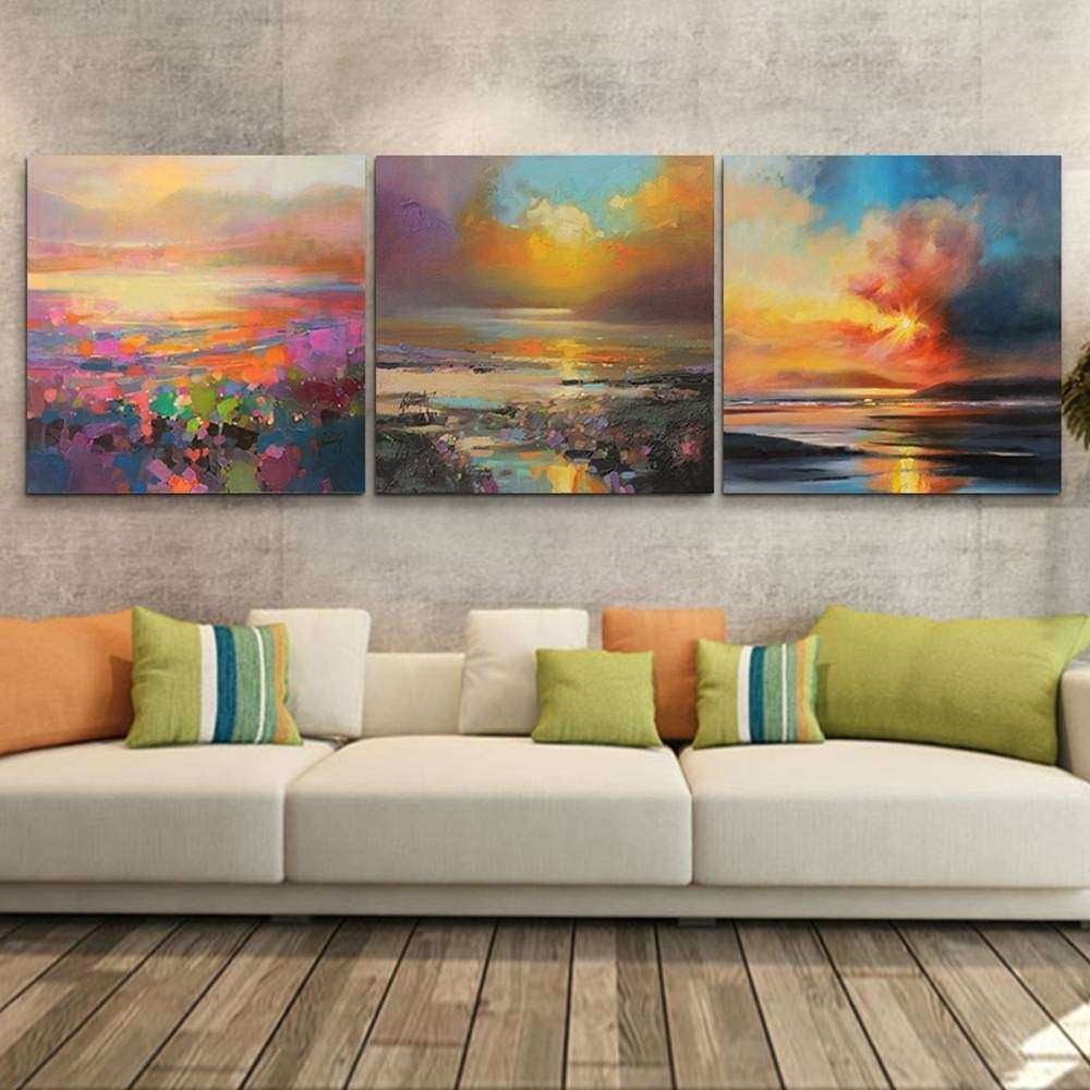 Multi Piece Canvas Wall Art Unique 2018 Latest 3 Piece Abstract Wall Art