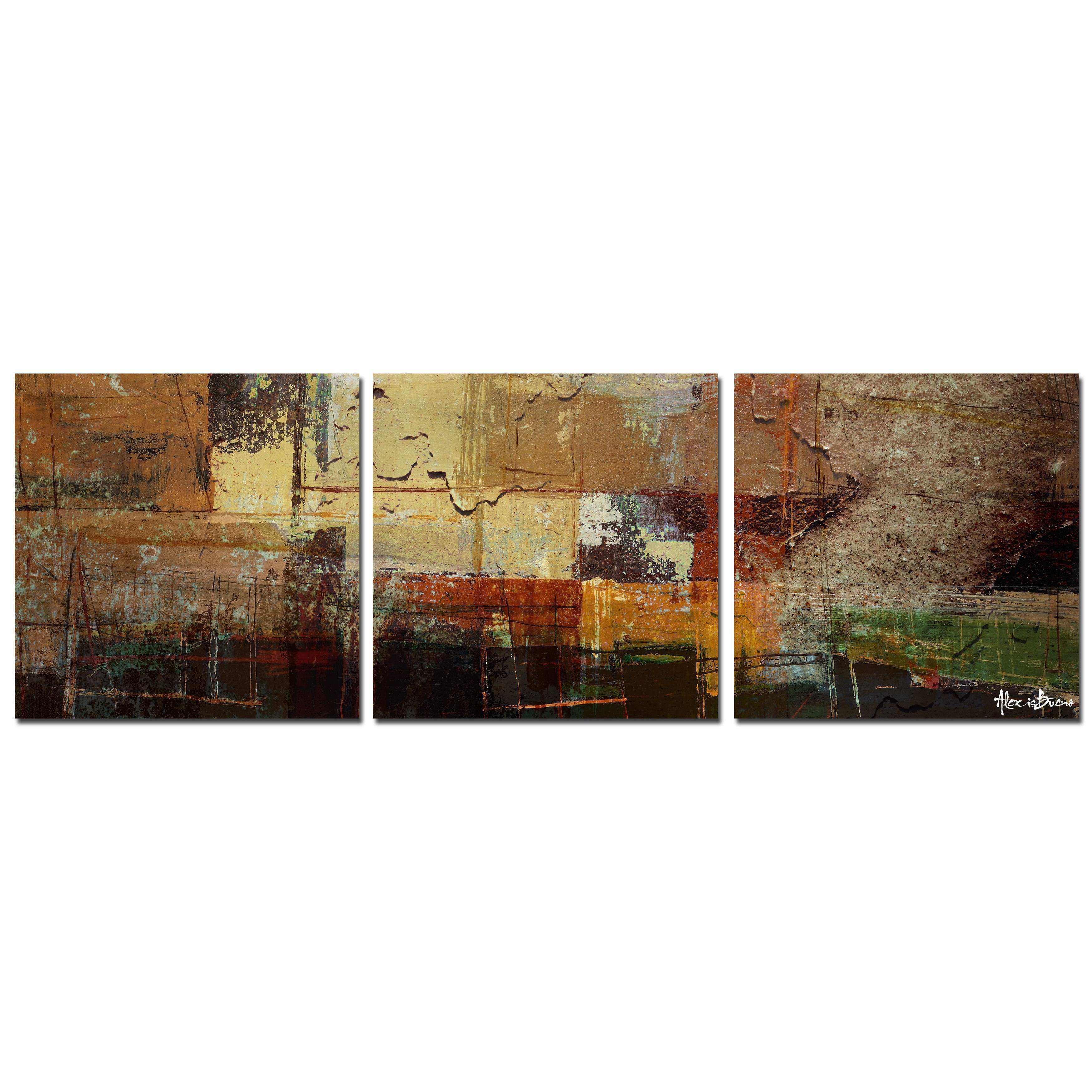Multiple Piece Canvas Wall Art Awesome Ready2hangart Oversized Abstract 3 Piece Print Of Painting