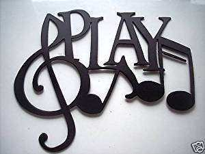 Amazon Play Word And Music Notes Metal Wall Art Decor