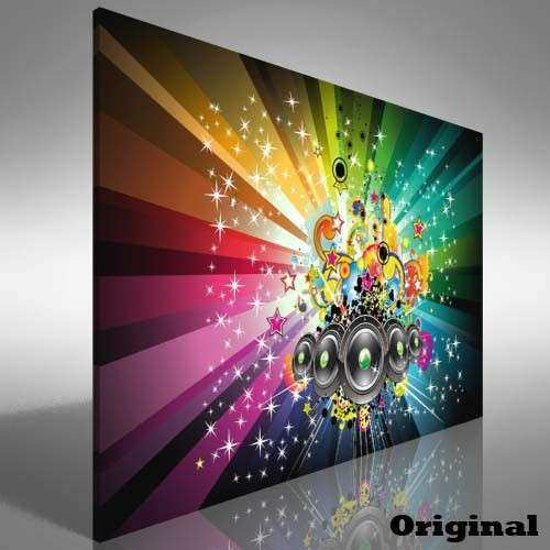 Music DJ Speakers Canvas Print Picture Wall Art