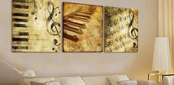 Music Wall Art Canvas Awesome Music Note Multi Panel Canvas Wall Art ...