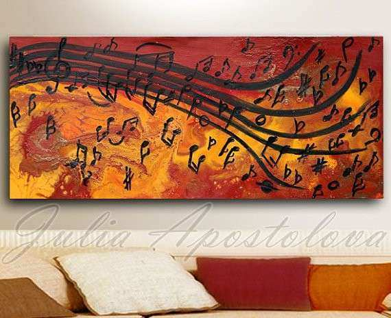 Abstract Print Musical Notes Music painting Abstract music