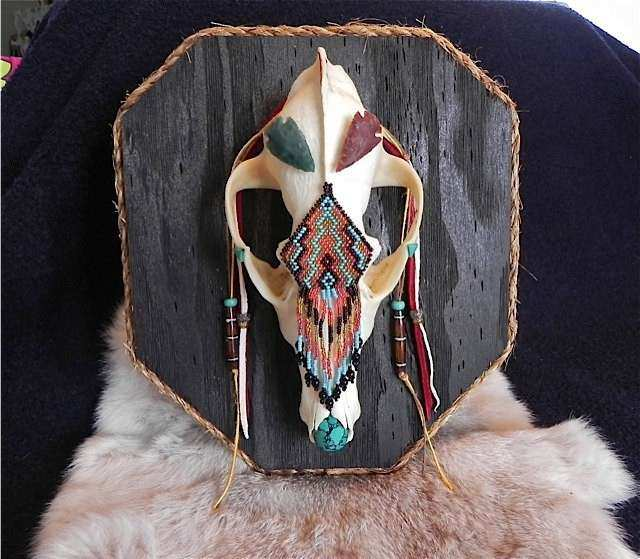 Coyote Skull Native American Wall Art by wadeANTHONY on Etsy