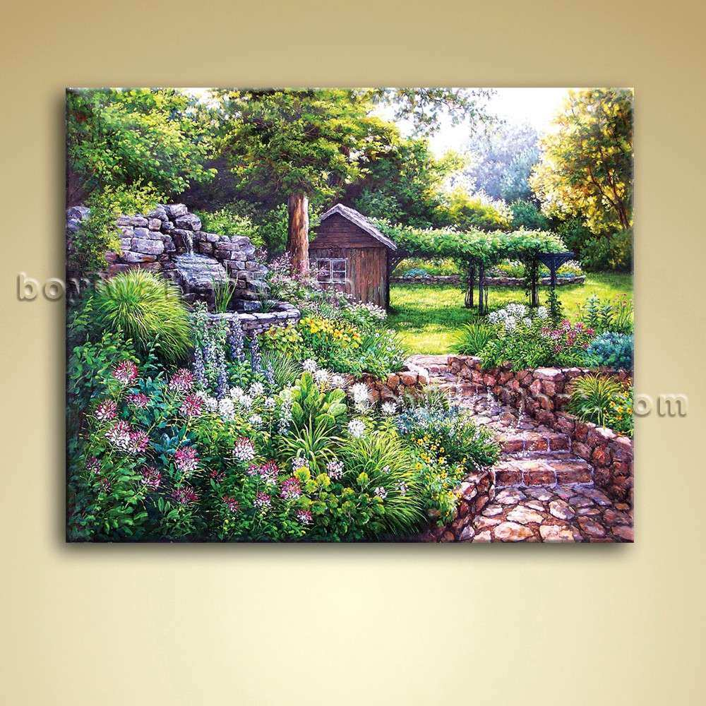 Classical Abstract Landscape Painting Oil Canvas Wall