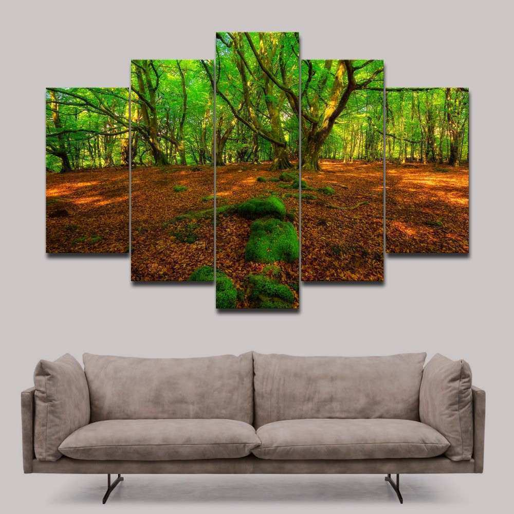 Unframed Green Forest photo print on canvas Modern wall