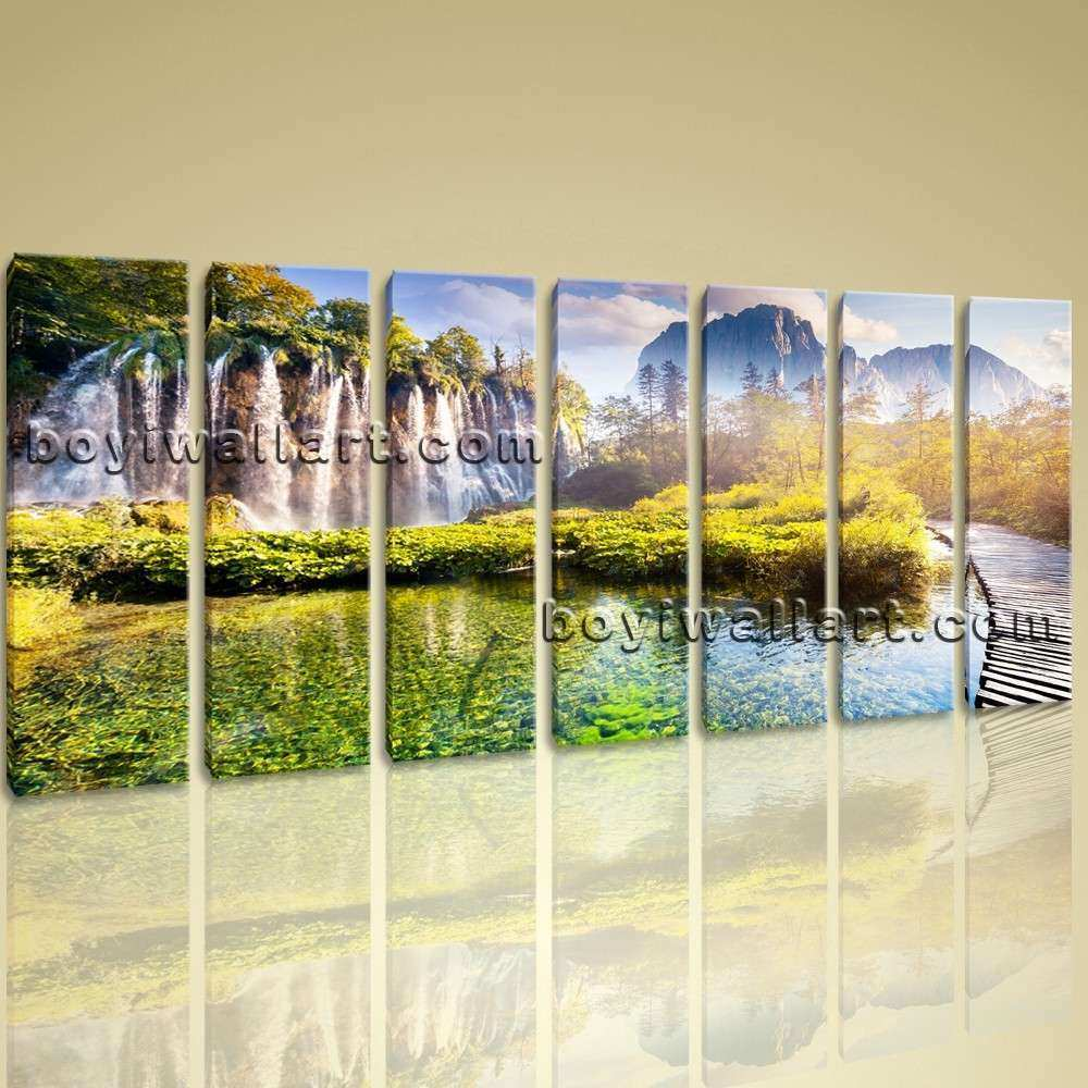 Nature Canvas Wall Art New Landscape Waterfall Picture Print Canvas ...