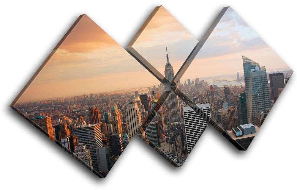 New York Skyline USA City MULTI CANVAS WALL ART Picture