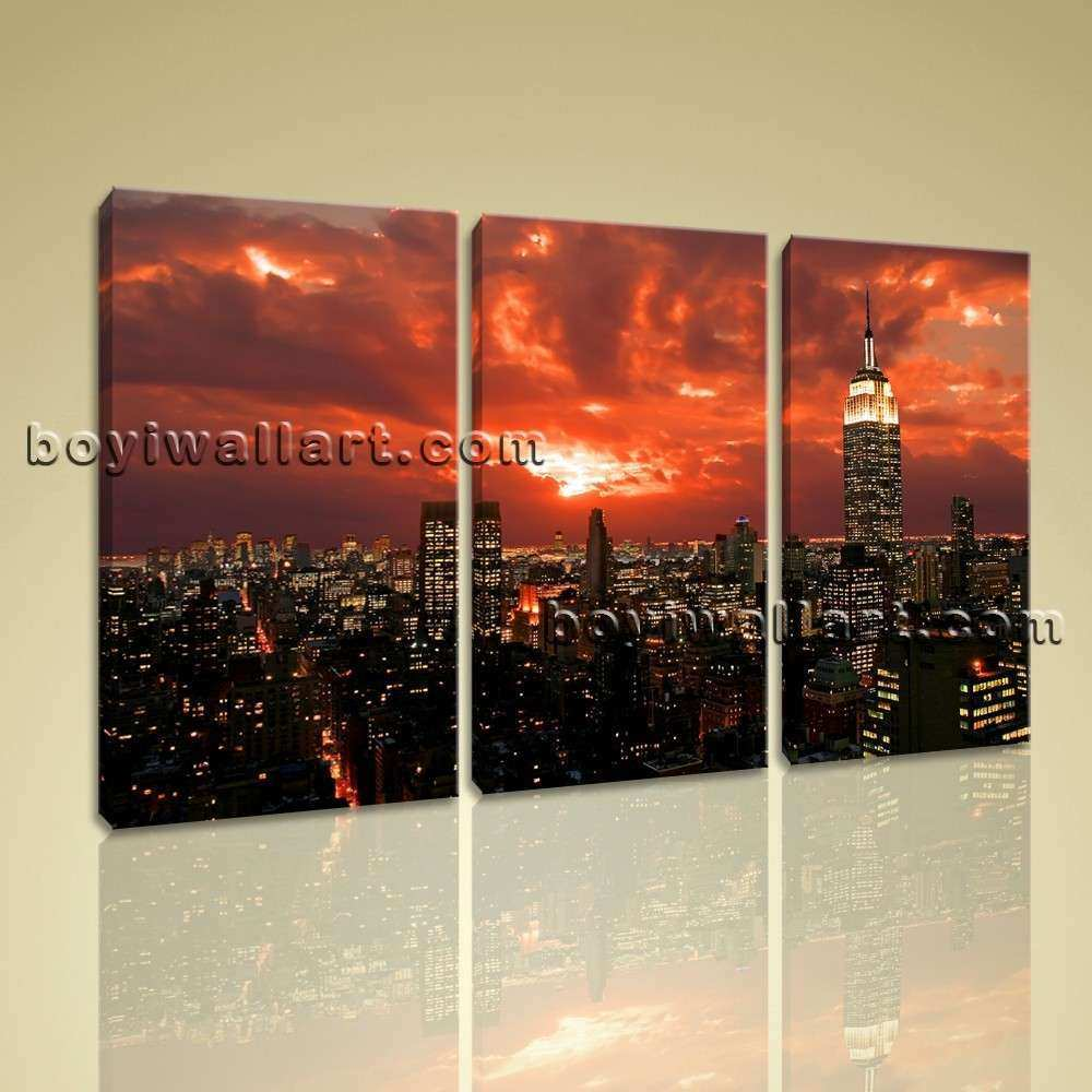 Framed Contemporary Wall Art Decor Canvas Prints Red