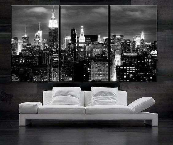 Wall Art Designs Black And White Canvas Wall Art 3 Panels