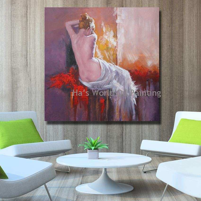 Hand Painted Cheap Wall Canvas Nude Women Oil