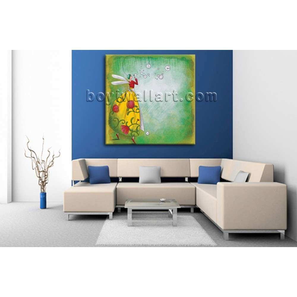 Modern Abstract Painting Oil Nursery Picture Fairy Kid
