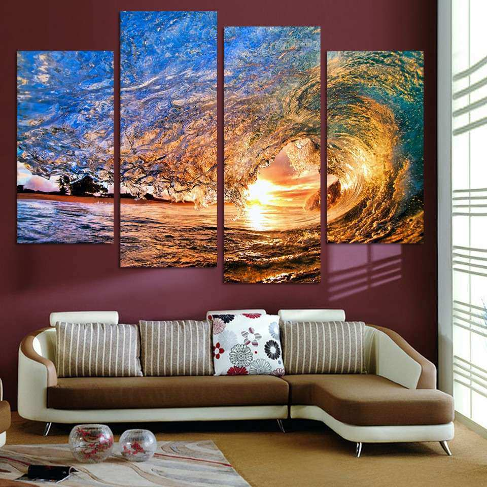 line Get Cheap Ocean Wave Painting Aliexpress