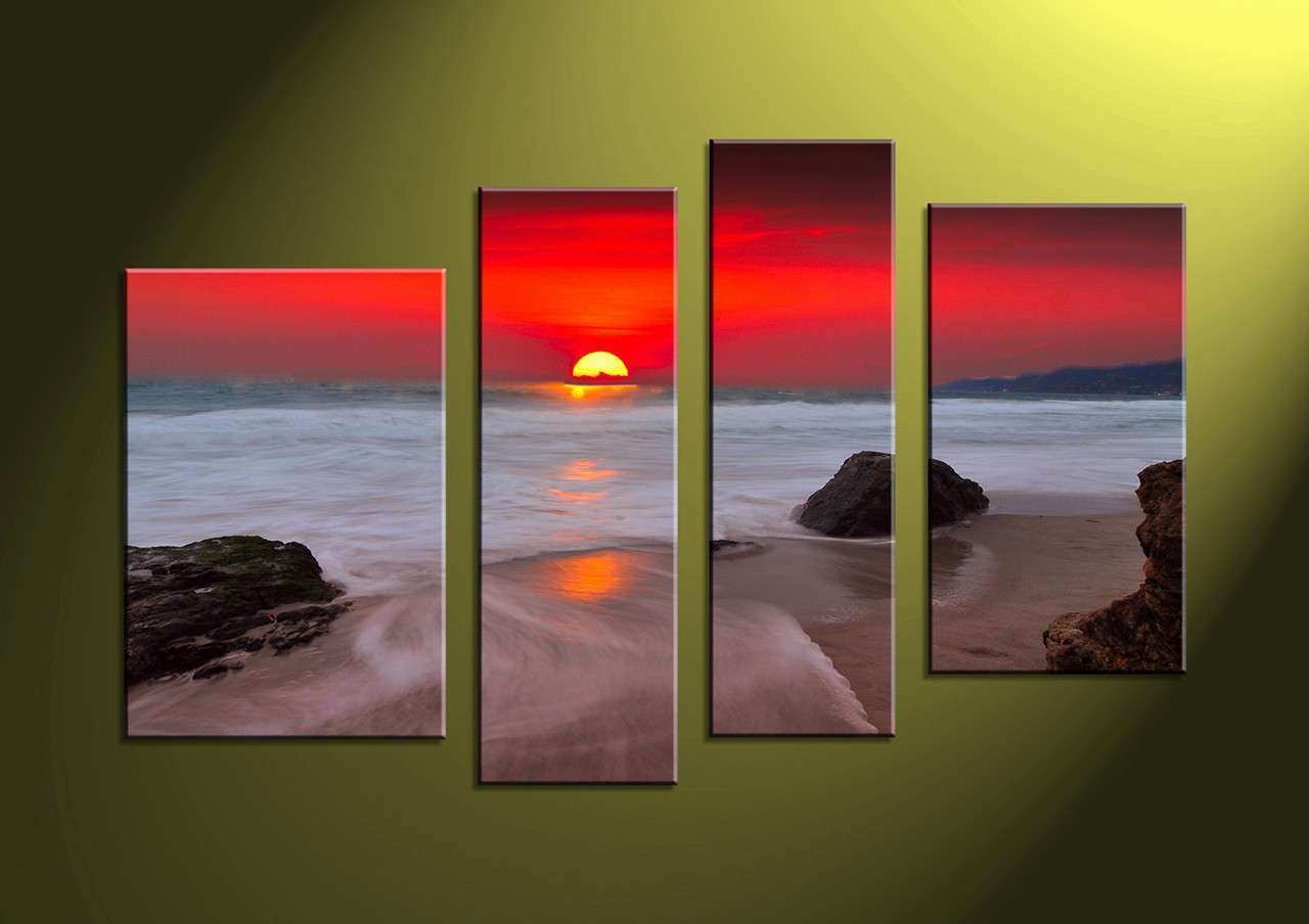 Sunset Wall Art african abstract elephant canvas wall