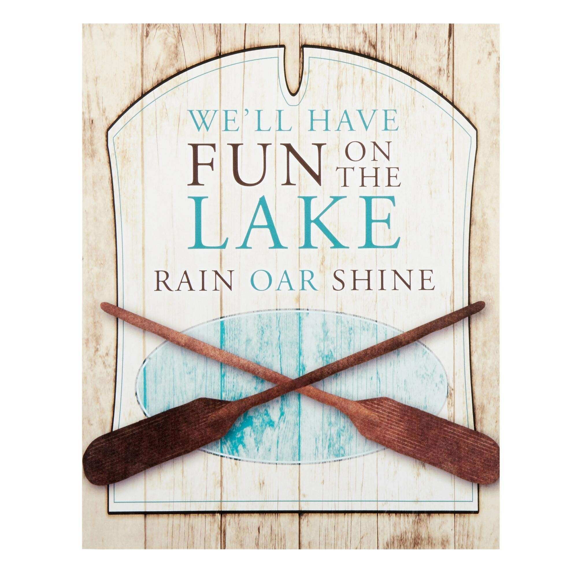 "16""x20"" ""Fun on the Lake"" Indoor Outdoor Canvas Wall Decor"