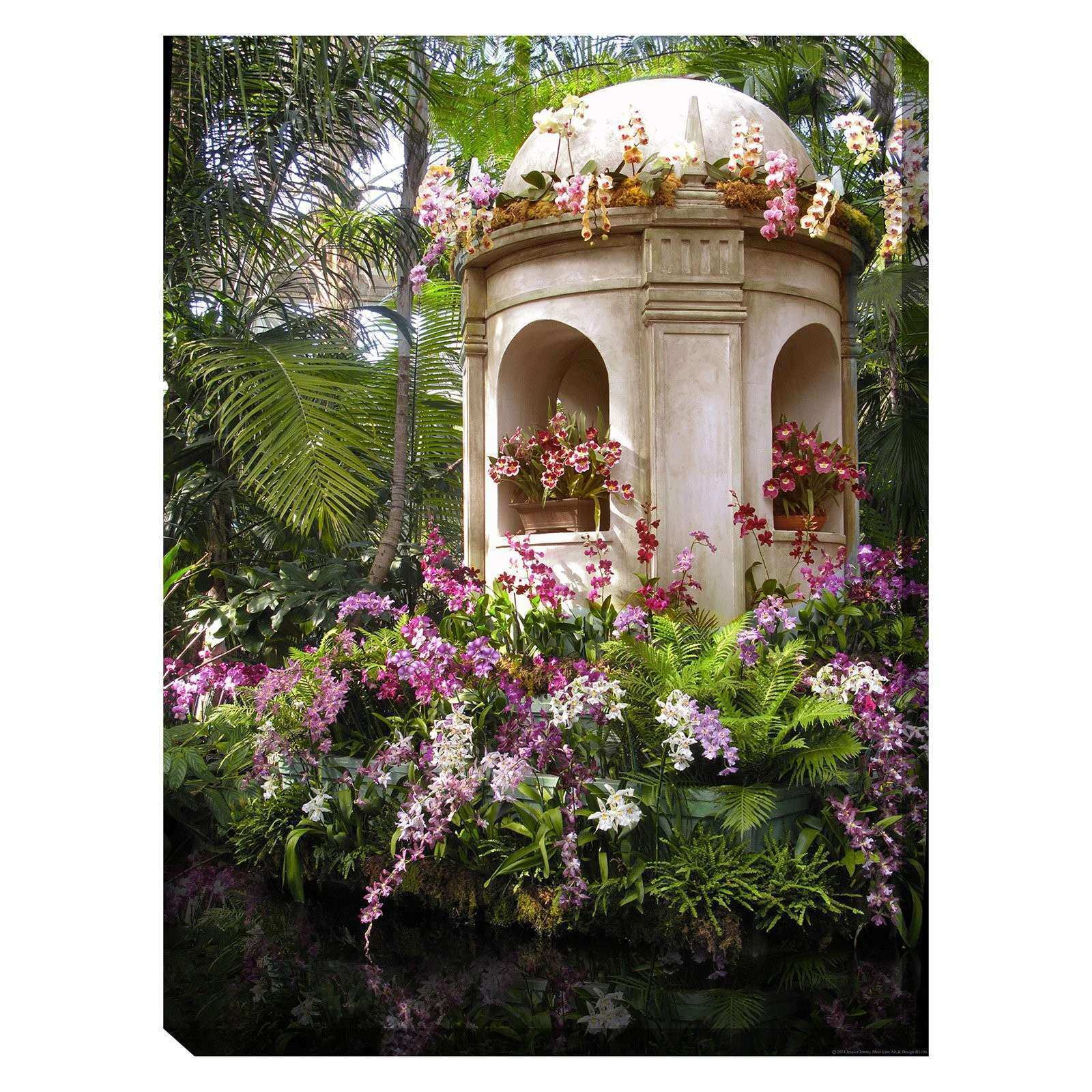 West of the Wind Tropical Orchids Indoor Outdoor Canvas