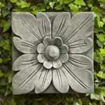 Outdoor Wall Art New Campania International Square Flower Cast Stone Outdoor Of Outdoor Wall Art