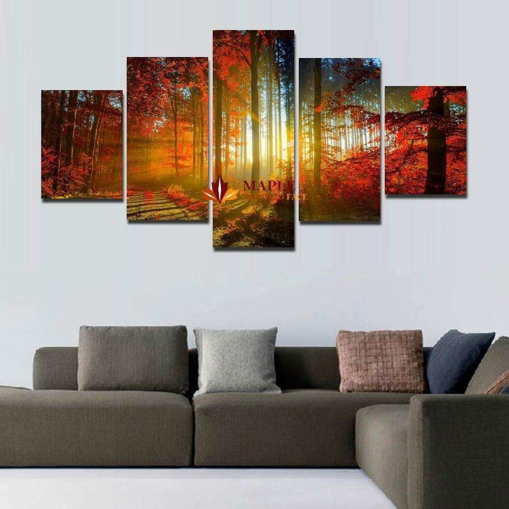 Remarkable Panel Forest Painting Canvas Wall Art Home