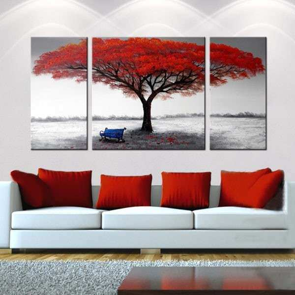 Oversized Canvas Wall Art Lovely the First Snowflakes Hand Painted 3 Piece Gallery