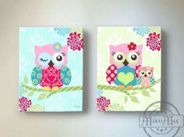 Owl Canvas Wall Art Elegant 1000 Ideas About Owl Canvas On Pinterest