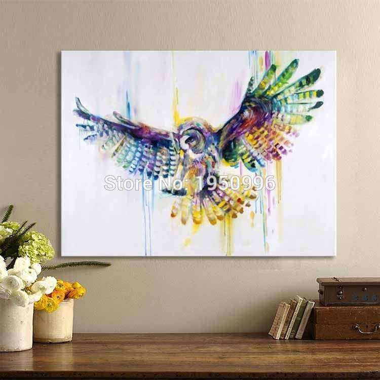 Owl Canvas Wall Art New Popular Owl Oil Paintings Buy Cheap Owl Oil  Paintings Lots