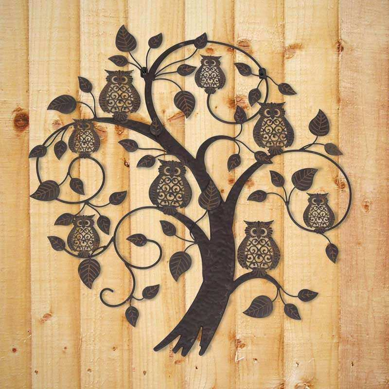 Owl Wall Art Luxury La Hacienda Treetop Owls Metal Wall Art On Sale