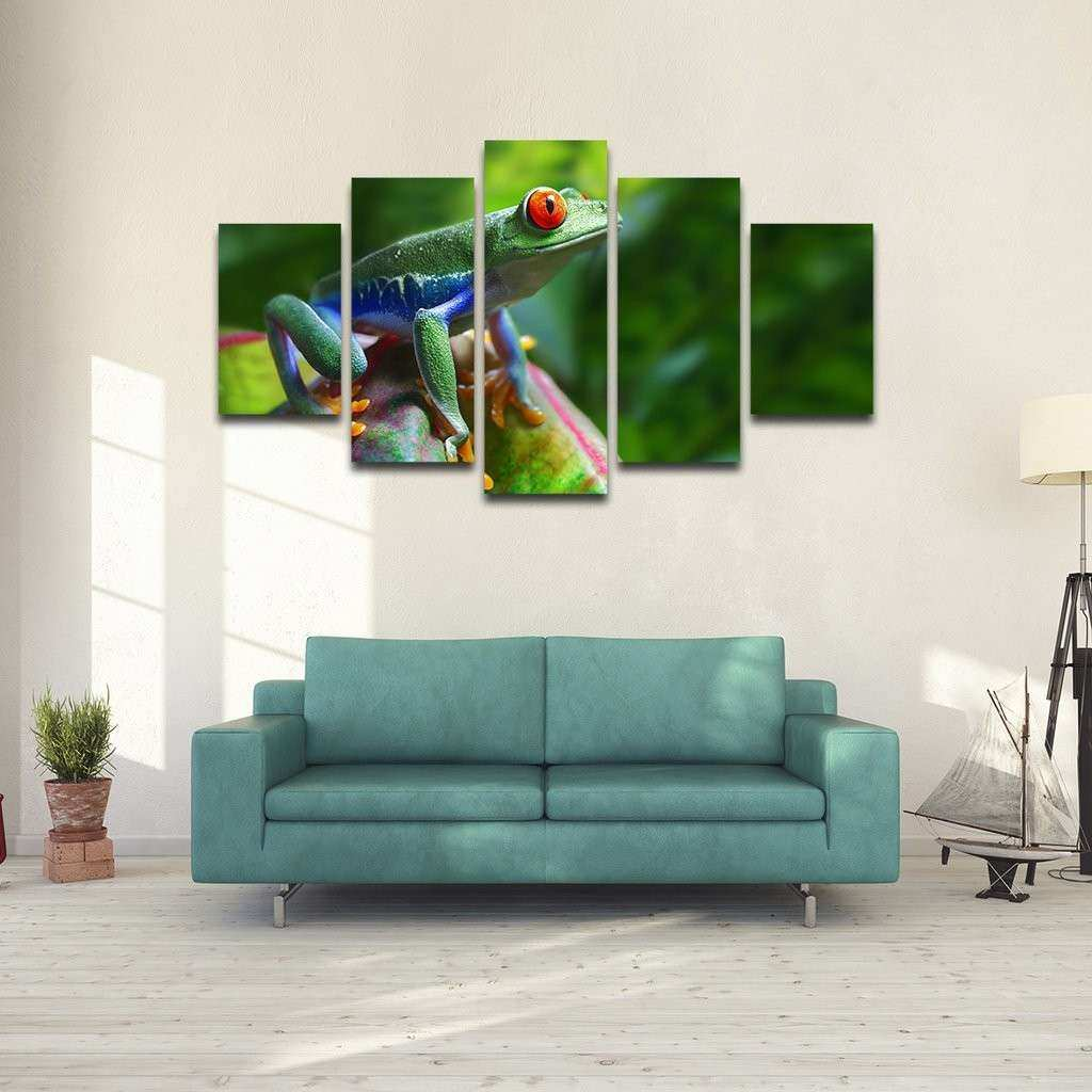 Red Eye Frog Multi Panel Canvas Wall Art