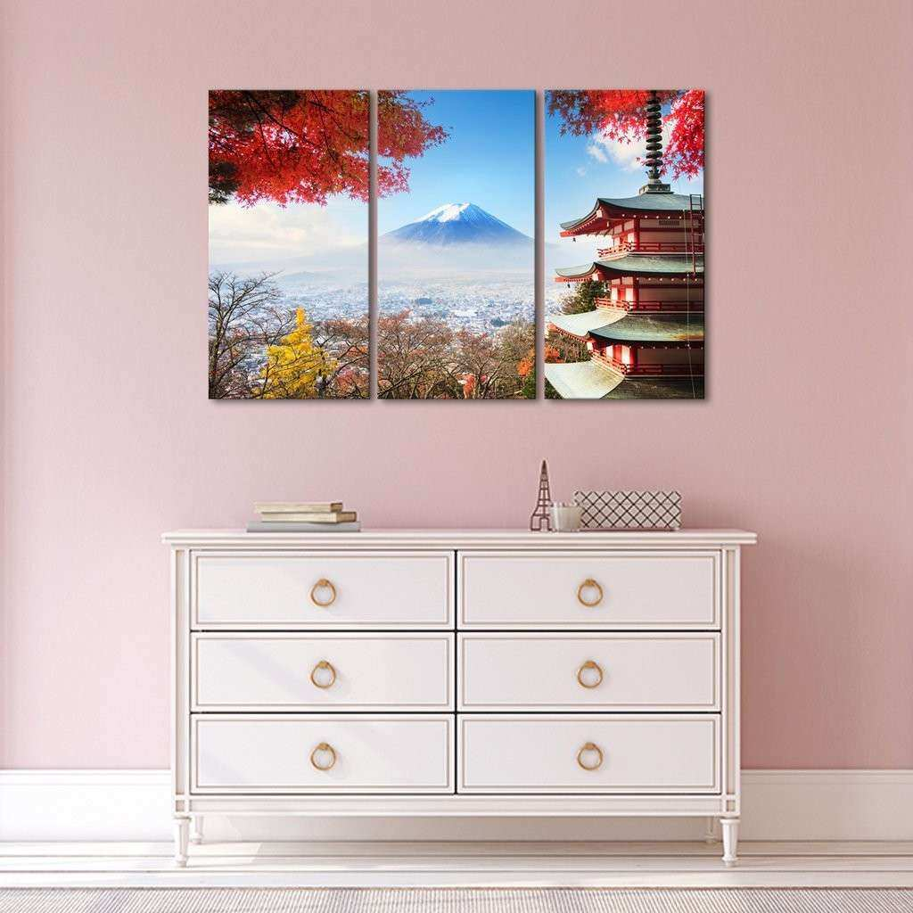Fuji Multi Panel Canvas Wall Art