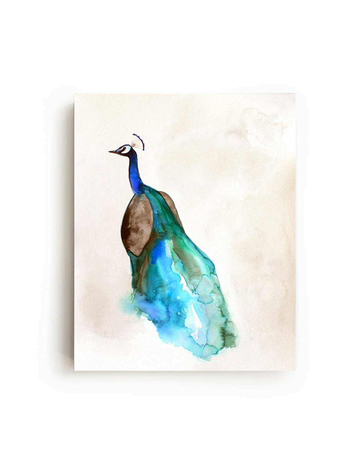 Peacock Canvas Print Wall Art Bright Home by MaiAutumn