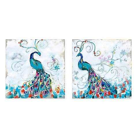 Colorful Peacock Gallery Canvas Wall Art