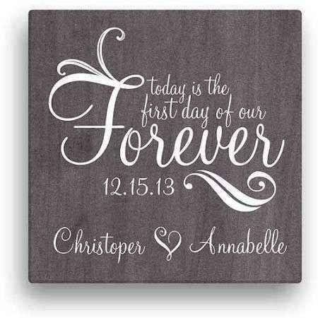 Forever Personalized Canvas Wall Art Walmart