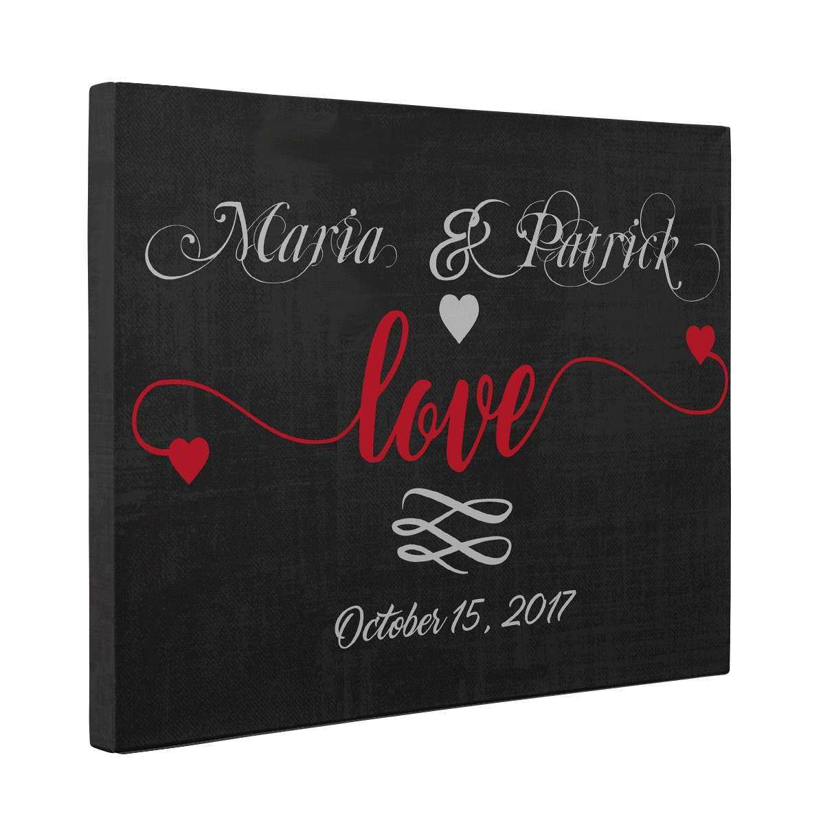 Personalized CANVAS Wall Art Love Anniversary Wedding Gift