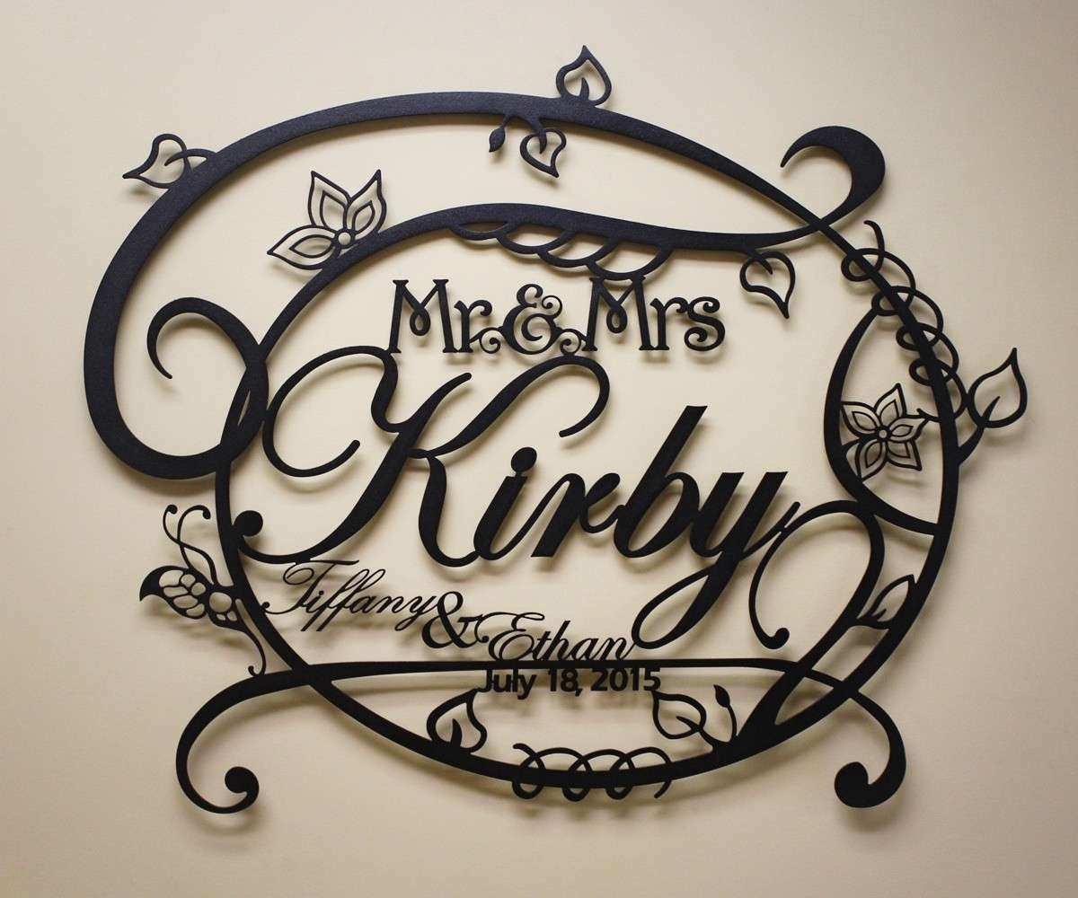 Classy 20 Personalized Metal Wall Art Decorating Design