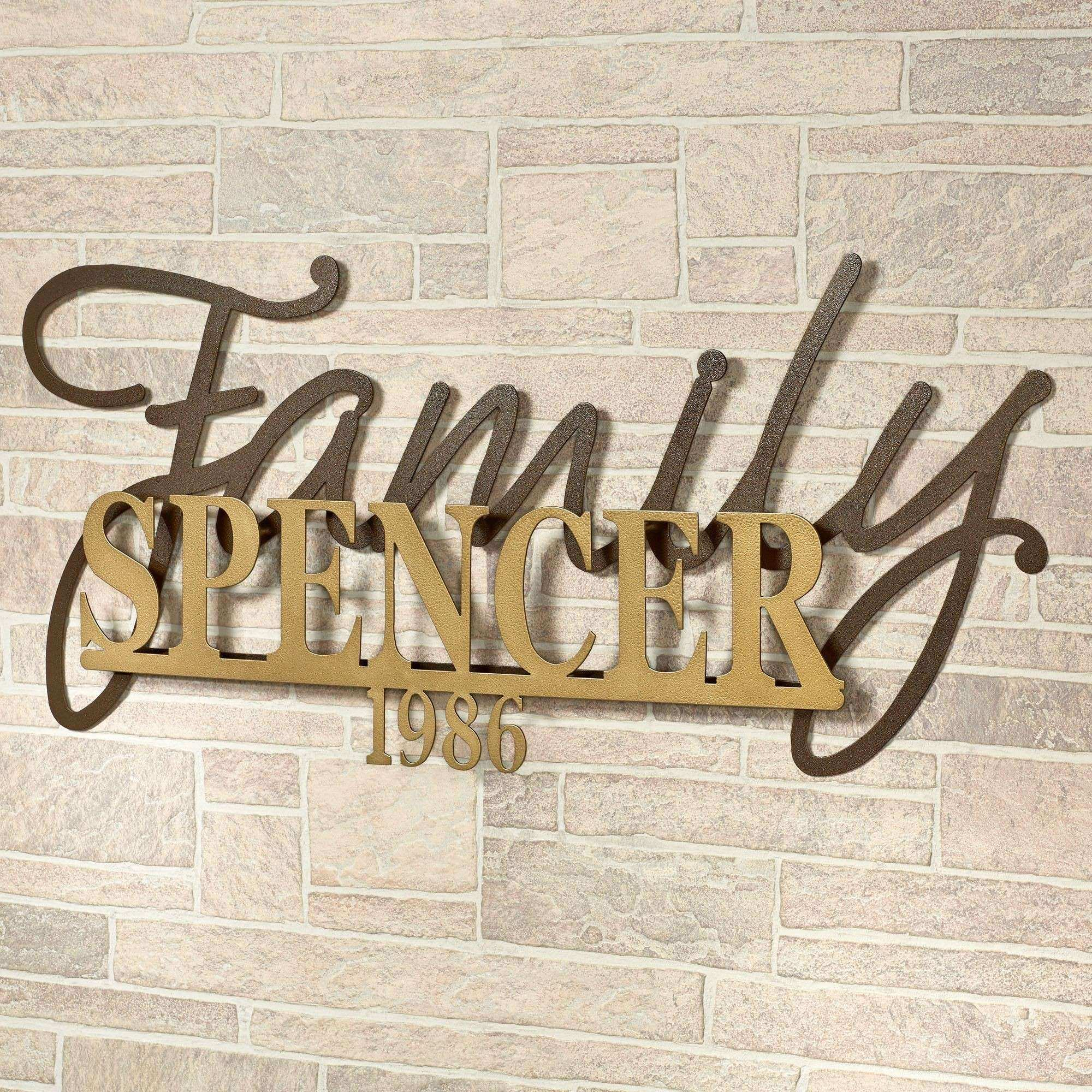 Signature Established Year Personalized Metal Wall Art