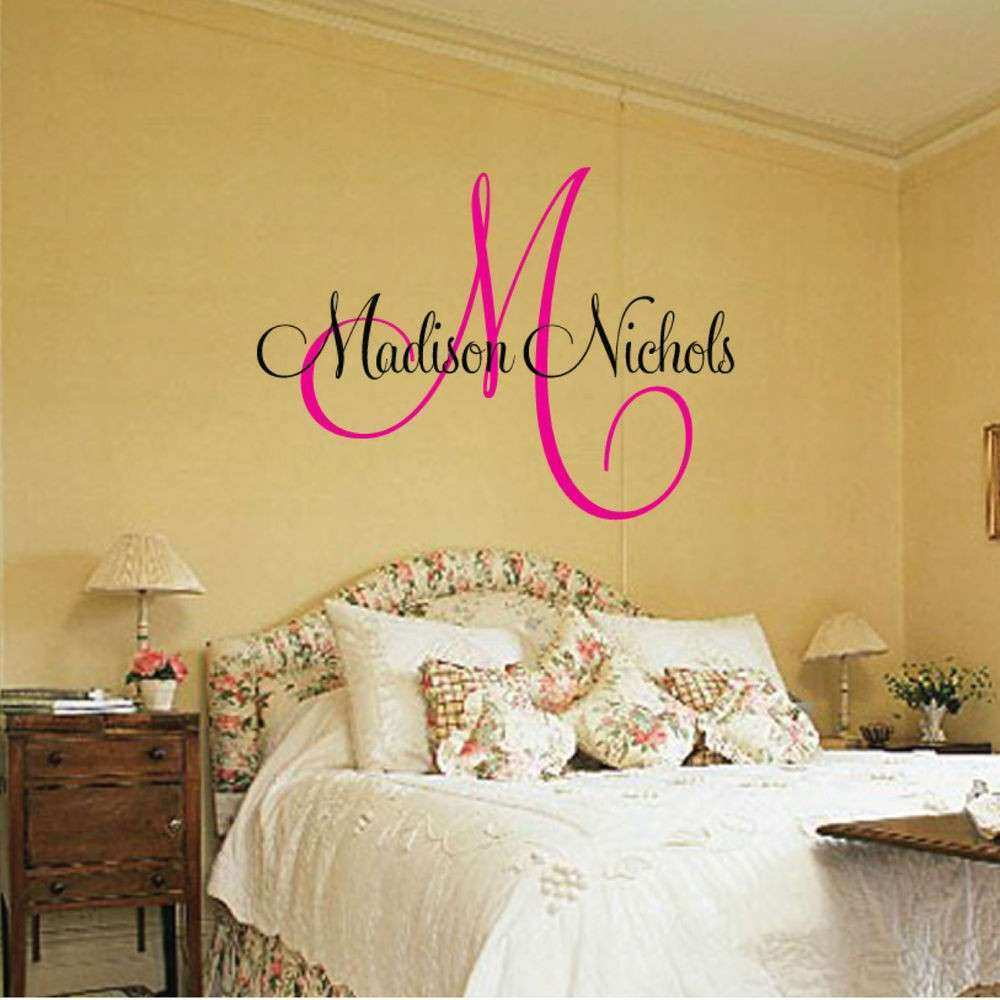 Personalized Wall Art Lovely Personalized Name Vinyl Wall Art Vinyl ...