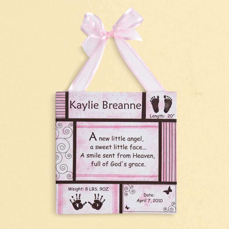 Personalized Wall Decor Awesome Personalized Baby Wall Décor at ...