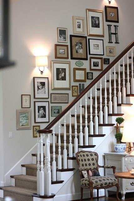 Photo Wall Decor Awesome Staircase Wall Decoration Ideas Staircase ...