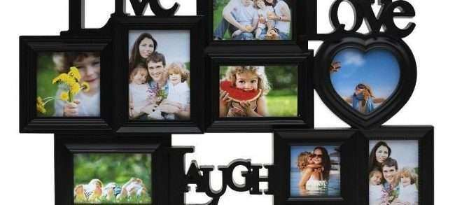 Picture Frame Wall Decor New Live Laugh Love Family Collage Picture