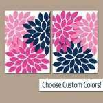 Pink Canvas Wall Art Awesome Navy Pink Wall Art Canvas Or Prints Navy From Trm Design Of Pink Canvas Wall Art