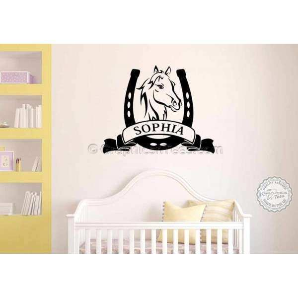 Personalised Horse Wall Stickers Boy Girls Bedroom