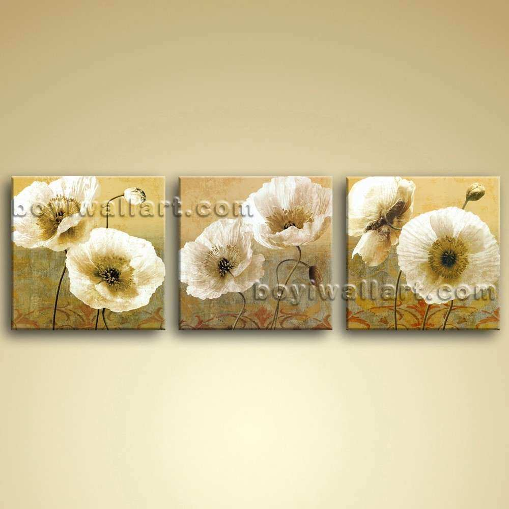 Extra Canvas Wall Art Oil Modern Abstract Floral