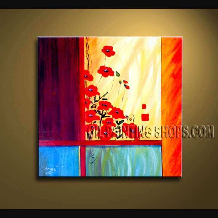 1000 images about Floral Oil Paintings Poppy Flower on