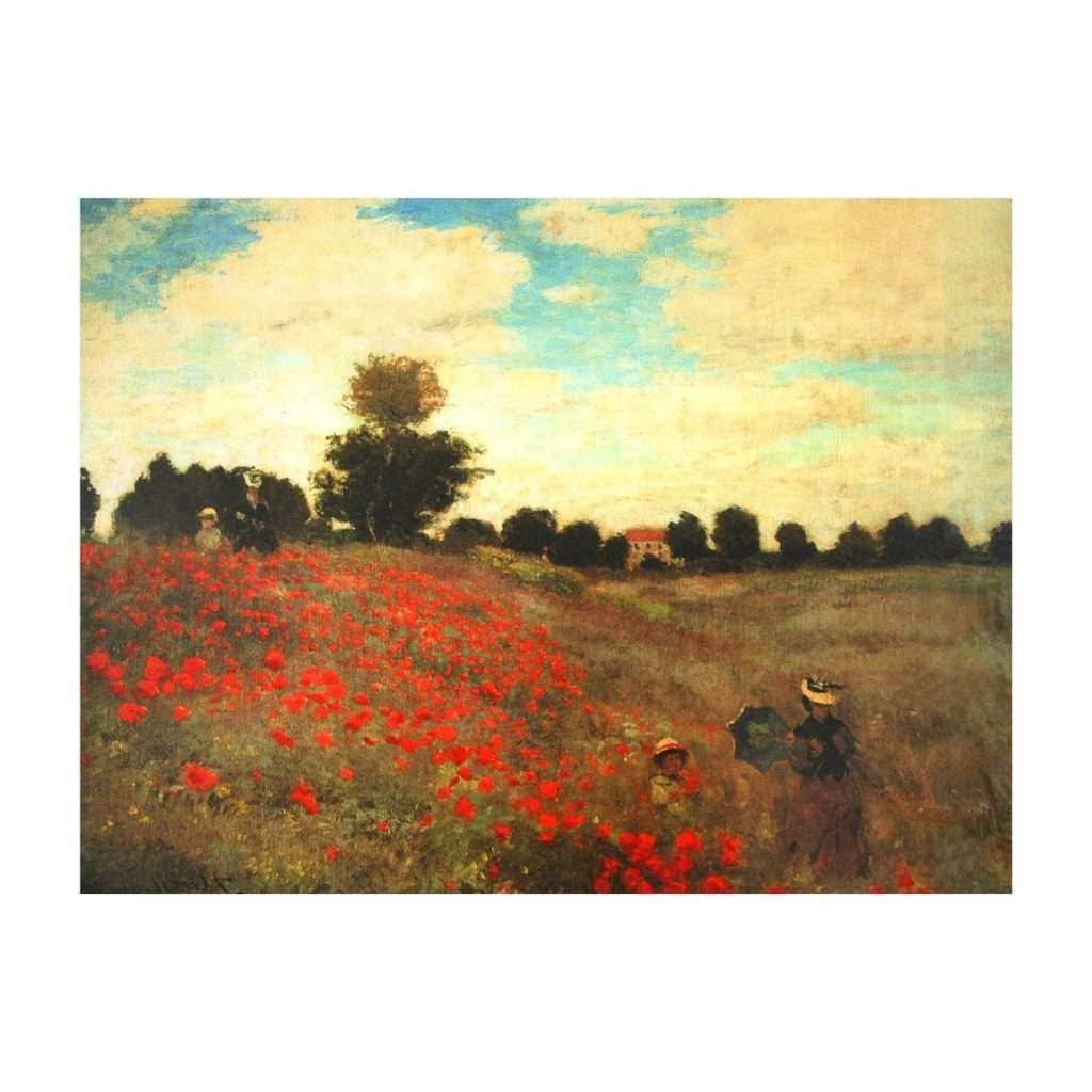 Poppy Canvas Wall Art Fresh oriental Furniture Cv Art Monet3 Poppies Canvas Wall Art